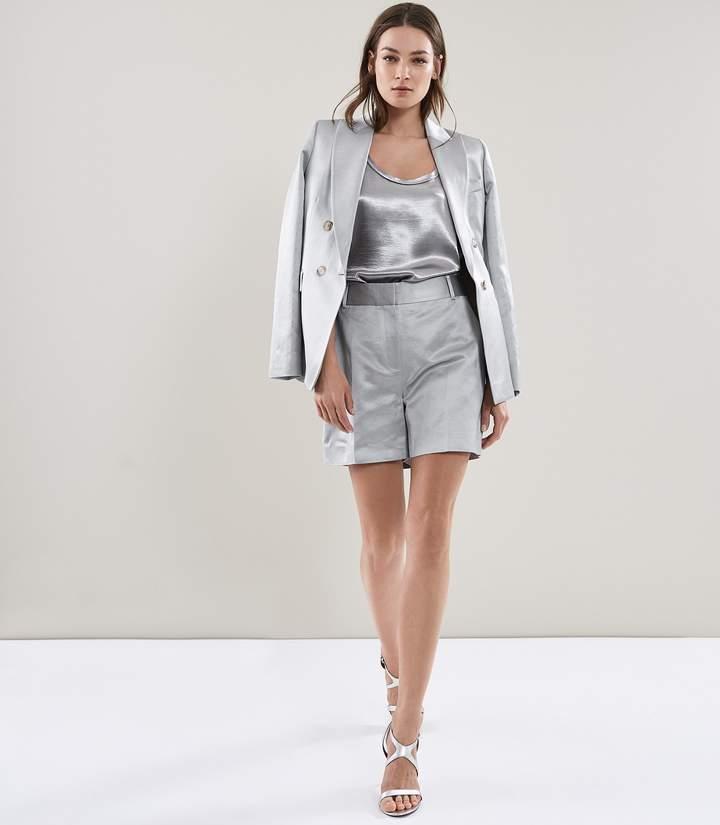 Reiss Solene Jacket Metallic Double-Breasted Jacket