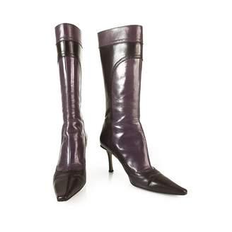 Jimmy Choo \N Purple Leather Boots