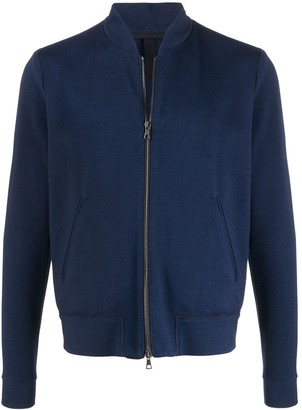 Harris Wharf London Waffle Knit Zipped Jacket