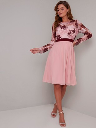 Chi Chi London Sutton Dress - Pink