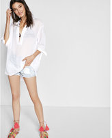 Express Deep V-neck Tie Sleeve Cover-up