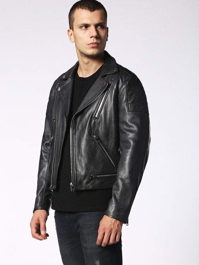 Diesel Leather jackets 0EAQU - Black - S