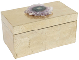 Mapleton Drive Brushed Box with Amethyst Flower Slice Crystal
