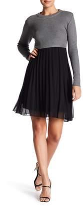 Gracia Sweater Chiffon Dress (Regular & Plus Size)