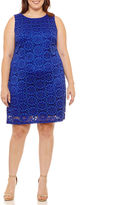 Ronni Nicole Sleeveless Circles Sheath Dress-Plus