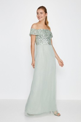 Coast Bardot Sequin Maxi Dress