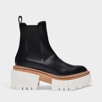 Stella McCartney Platform Boots In Black Synthetic Leather