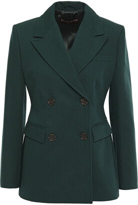 ALEXACHUNG Double-breasted Cotton-blend Twill Blazer