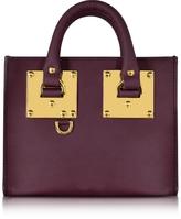 Sophie Hulme Aubergine Saddle Leather Albion Box Tote Bag