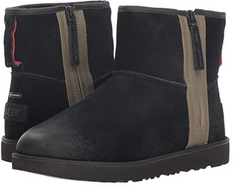 UGG Classic Mini Zip Waterproof (Black) Men's Boots
