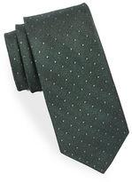 Black Brown 1826 Dotted Silk Tie