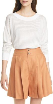 Club Monaco Stripe Linen Blend Sweater