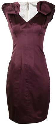 Prada Pre-Owned Bow Detail Fitted Dress