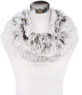 TrendsBlue Premium Soft Small Long Faux Fur 2-Tone Infinity Loop Circle Scarf