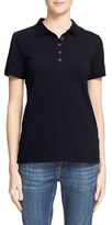 Burberry Women's Check Trim Pique Polo Shirt