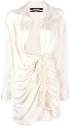 Jacquemus La Robe Bahia knotted shirtdress