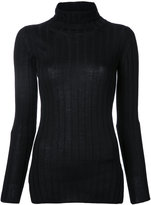 CITYSHOP ribbed turtle neck sweater - women - Wool/Tencel - One Size