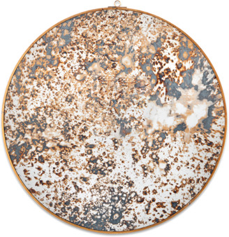 Nkuku Small Oiled Decorative Round Mirror - small