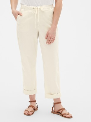 Gap Drawstring Twill Stripe Chino Pants