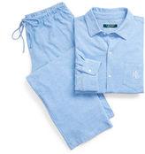 Ralph Lauren Cotton-Blend-Piqué Pajama Set