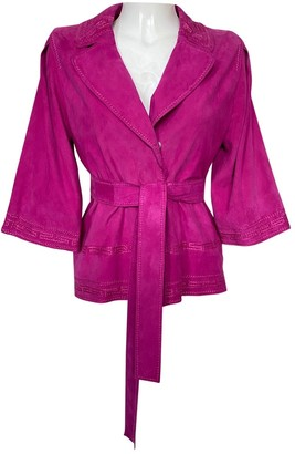 Alberta Ferretti Pink Suede Coat for Women