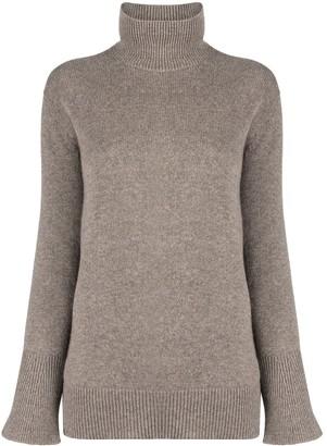 Agnona Roll-Neck Bell Sleeved Sweater