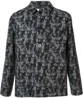 Julien David patterned shirt jacket - men - Wool - M