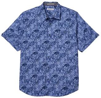 Tommy Bahama Big Tall Jungle Shade Shirt (Violet Petal) Men's Clothing