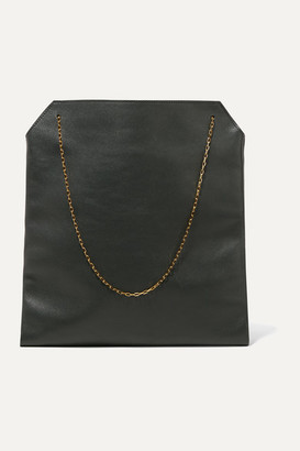 The Row Lunch Bag Leather Tote - Green