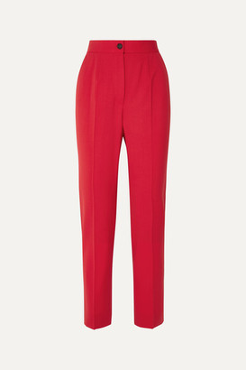 Dolce & Gabbana Wool-blend Straight-leg Pants - Red