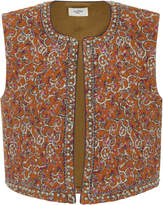 Etoile Isabel Marant Haphir Quilted Cotton Blend Vest