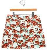 Kenzo Girls' Tiger Print A-Line Skirt