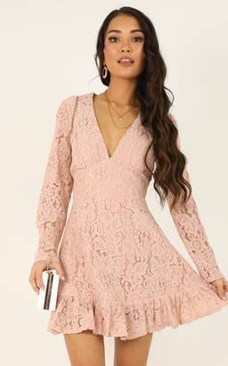 Showpo Love and Leave Dress in blush lace - 20 (XXXXL) Dresses