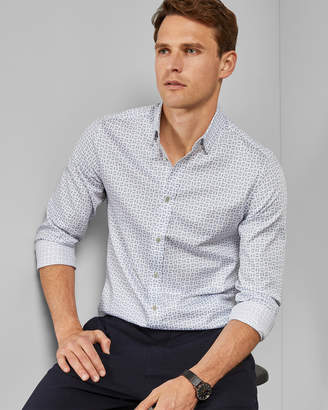 Ted Baker TONYCAR Cotton geo print shirt