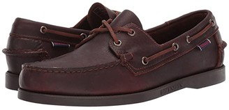 Sebago Docksides Portland Tumbled Matte (Black/Dark Brown) Men's Shoes