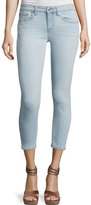 Derek Lam 10 Crosby Devi Mid-Rise Cropped Authentic Skinny Jeans, Light Blue