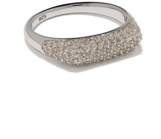Tom Wood Knut crystal studded ring