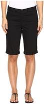 NYDJ Briella Roll Cuff Shorts in Black