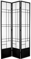Oriental Furniture Unique Contemporary Best Quality Room Divider, 7 Foot Eudes Design Wood and Rice Paper Shoji Floor Screen