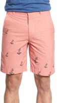 Vintage 1946 'Engineer' Nautical Print Poplin Shorts