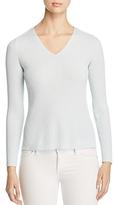 Eileen Fisher Rib-Knit V-Neck Sweater