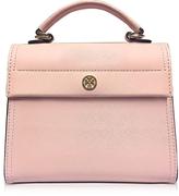 Tory Burch Parker Pink Quartz Leather Small Satchel Bag