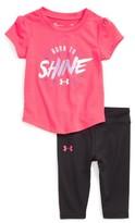 Under Armour Infant Girl's Glitter Tee & Leggings Set