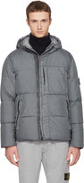 Stone Island Grey Hooded Down Jacket