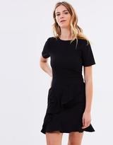 Warehouse Ruffle Front Dress