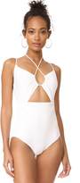 Michael Kors Halter One Piece Swimsuit
