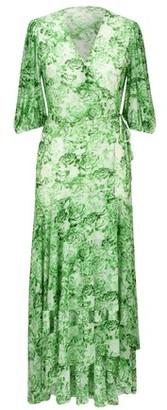 Ganni Long wrap dress