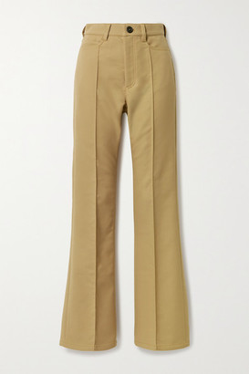 Meryll Rogge Twill Flared Pants - Camel