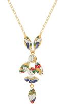 Isabel Marant Marley enamel bird drop necklace