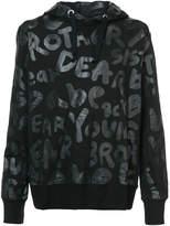 Junya Watanabe text print hoodie
